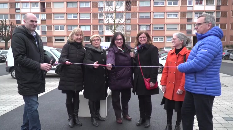 Inauguration du parking du centre commercial